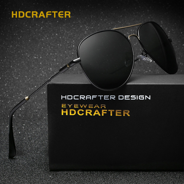 24a20d60853 HDCRAFTER 2017 Retro Luxury Sunglasses Men Polarized Aviation Gold Sun  Glasses Mens Eyewear Brand Designer Driving