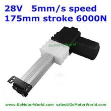 28 в Okin/dewero кресло 175 мм ход 5 мм/сек. скорость 6000N нагрузки линейный привод двигателя