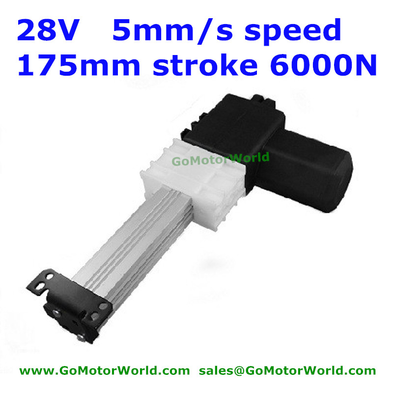 28V Okin/Dewert recliner chair 175mm stroke 5mm/s speed 6000N load linear actuator motor free shipping