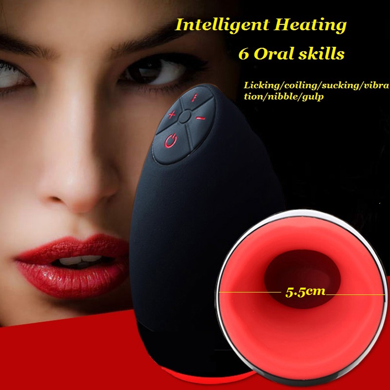 ФОТО Oral Masturbator Automatic Artificial Pussy Electric Male Masturbator Sex Toys For Men 6 Speeds Vibrating Heating Pussy Cup
