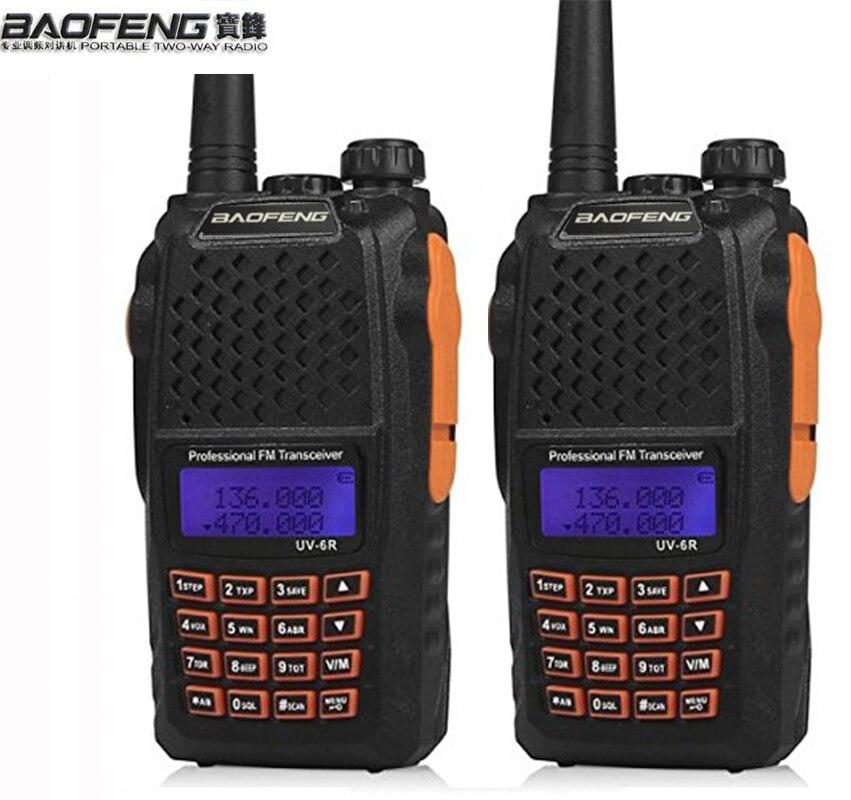 2 шт. Baofeng UV-5R обновленная версия uv-6r Dual Band двухстороннее радио для двусторонней портативная рация УФ 6R 128ch CTCSS и DCS fm-радио CB