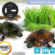[Забавный] трюк электронный питомец Радиоуправляемый симулятор звук и светильник черепаха Робот Модель шалость игрушка пульт дистанционного управления умные животные Детский подарок