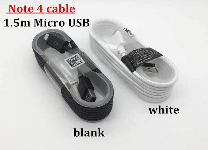 10 шт./лот 100% оригинальные 1,5 M NOTE 4 Micro usb-кабель для передачи данных (синхронизации) и зарядки Зарядное устройство кабель для samsung Note4 край S6 S7 с розничной коробкой