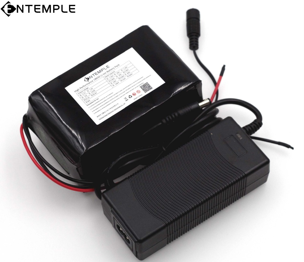 ENTEMPLE 12v 18650 Lithium-ion Battery Pack 12A Protection plate 12000mAh Hunting lamp xenon Fishing Lamp USE+12.6v 3A Charger 30a 3s polymer lithium battery cell charger protection board pcb 18650 li ion lithium battery charging module 12 8 16v
