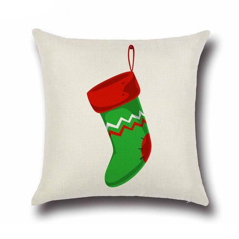 Рождественские носки диван кровать домашнего декора фестиваль наволочки дети поставляет красный + зеленый узор-11