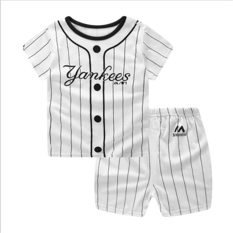 Funfeliz Baby Boy Ubrania Letnie Chłopięce Garnitury Sportowe Na Co - Ubrania dziecięce - Zdjęcie 6