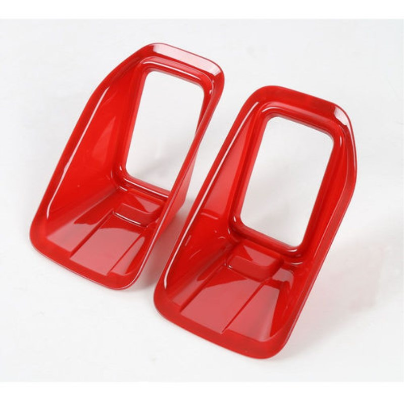 BB@Fuka Chromium Styling 2PCS ABS Red Car Front Fog Light Lamp Frame Cover Trim For F-ord <font><b>F150</b></font> <font><b>Accessories</b></font> Car Styling image