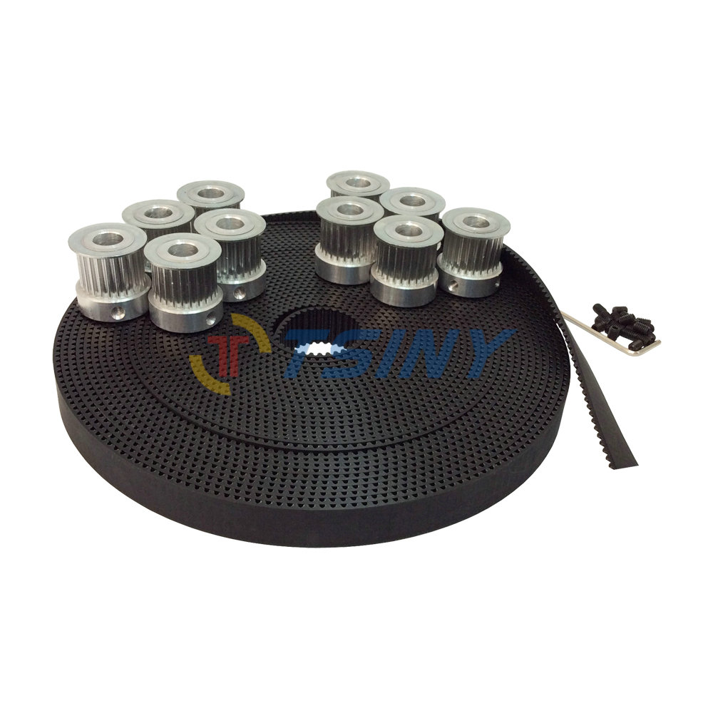 HTD 3M Open Timing Belt Toothed Belt Width 15mm 10 Meters and 10pcs Timing Belt Aluminium Pulleys 25 Teeth Bore 6mm 8mm 12mm lupulley s8m timing belt black closed loop rubber belt s8m2880 3200 3272 3280 3400 3440 3600 toothed belt drive for printing