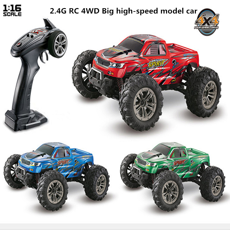 Remote control off-road vehicle scale 1:16 big foot four drive high speed model car Racing Electric RC Car boy toy car