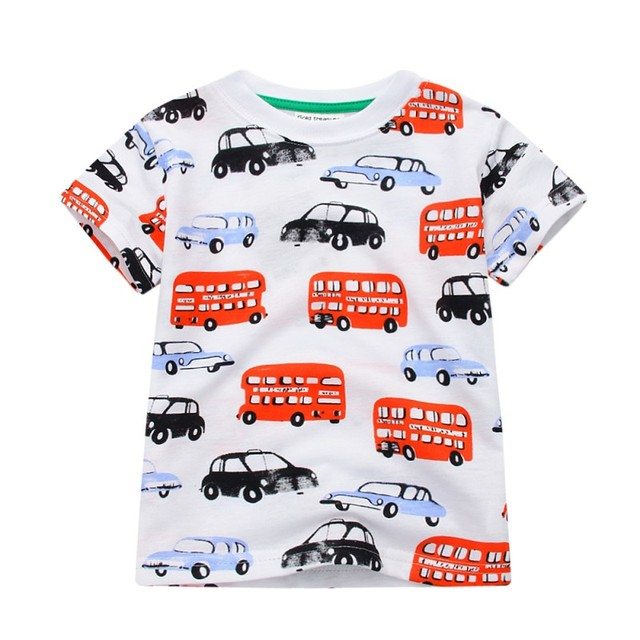 New 2018 Boy's T Shirt Popular Style Cotton Short-sleeved T-shirt Printing Children's Cartoon Gray Kids Boys Child's Clothes