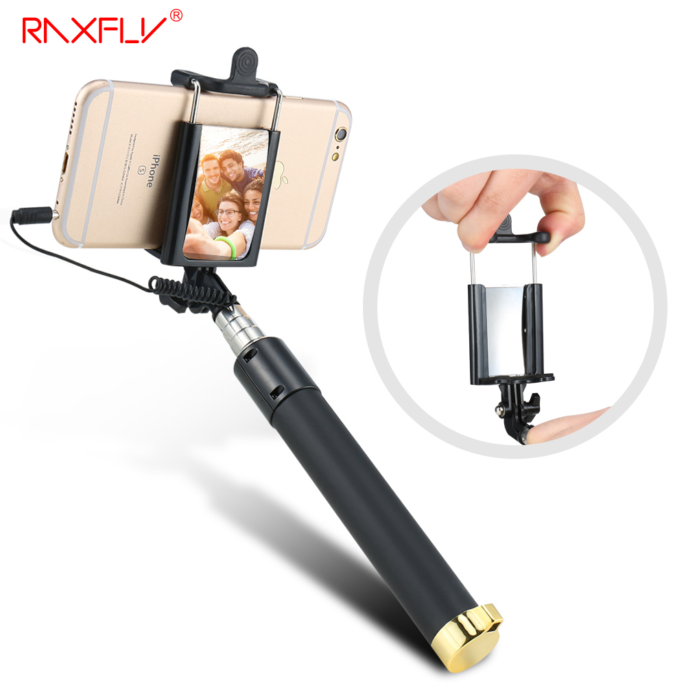 raxfly universal wired handheld selfie stick mini portable mirror monopod sel. Black Bedroom Furniture Sets. Home Design Ideas