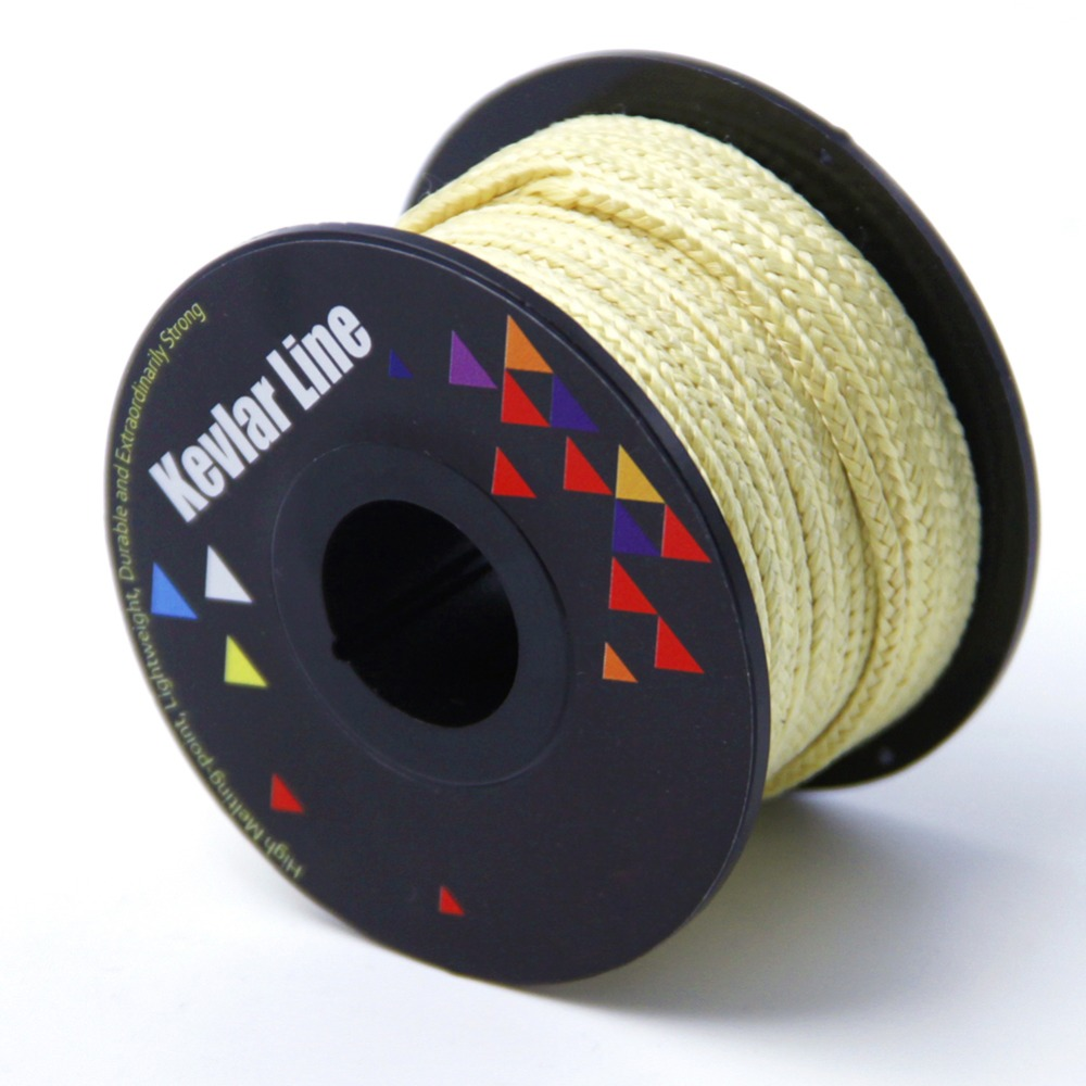 50ft/15M 1000lb Braided Line for Fishing Super Strong Kevlar Line Kite Flying Line String Outdoor Camping Kit Rope Cord turbine