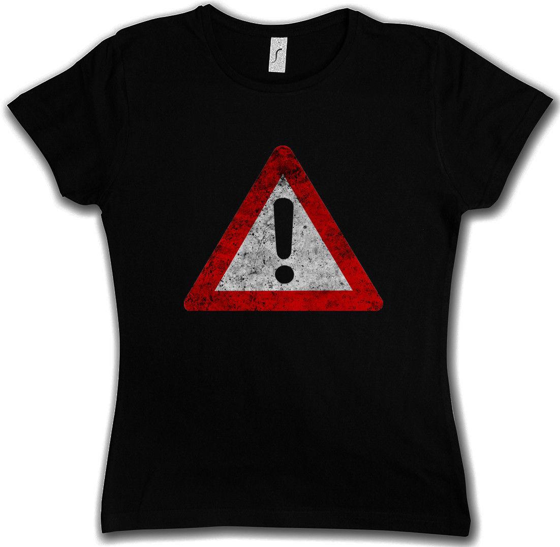 Лето 2017 хлопковые футболки предупреждающий знак футболка Символ Логотип США Внимание Опасность Biohazard запретная зона