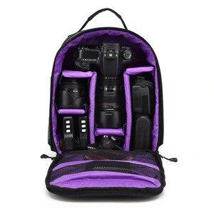 Image 5 - Imperméable à leau fonctionnel DSLR sac à dos caméra vidéo sac avec housse de pluie reflex trépied étui PE rembourré pour photographe Canon Nikon