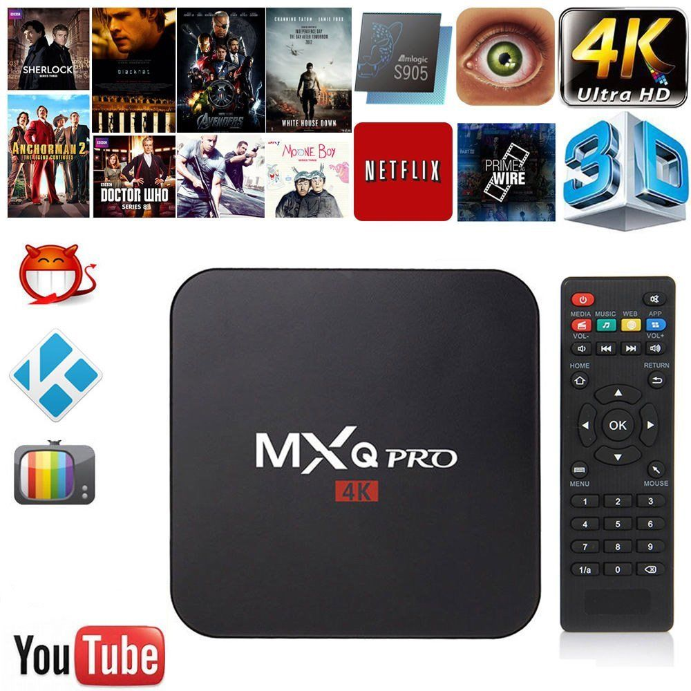 MXQ Pro 4K TV Box Amlogic S905X Quad Core 3G 32G Flash Android Ultra 4K Streaming fully Load Tv box wireless keyboard MX Pro iqtouch candy 65 pro 4k