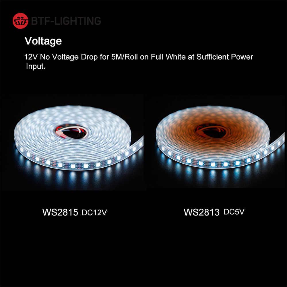 WS2815 (WS2812B/WS2813) DC12V RGB светодиодный Пиксельная лента 1 м/5 м свет индивидуально адресуемый светодиодный двойной сигнал 30/60/144 пикселей/светодиодный s/m