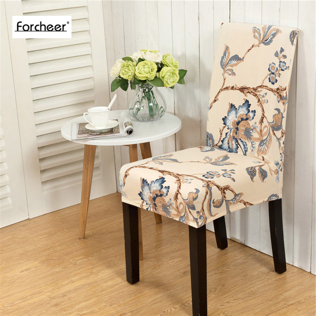 Home Dining Elastic Chair Covers Multifunctional Spandex Elastic Cloth Dining  Room Chair Cover For Modern Kitchen