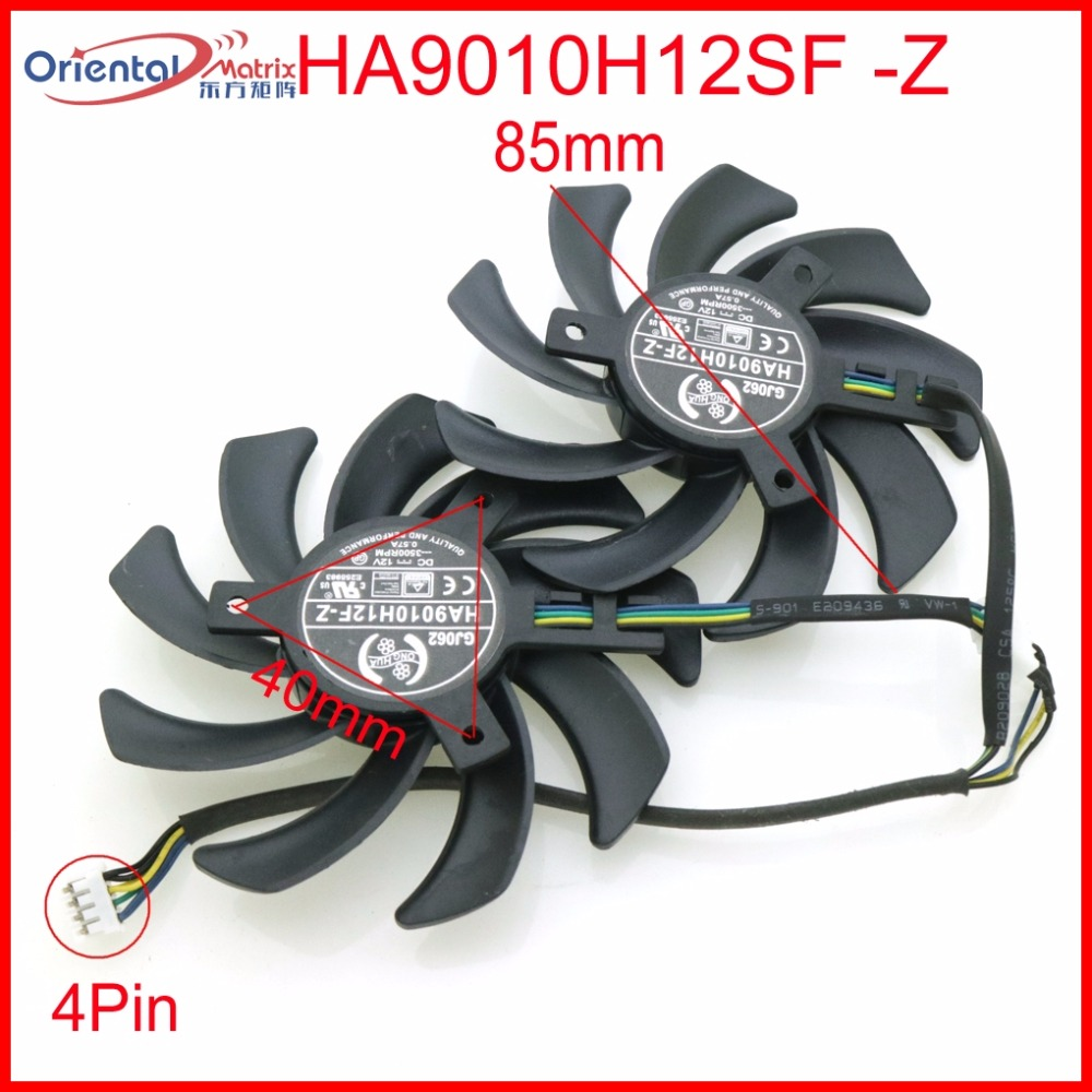 Free Shipping HA9010H12SF-Z 12V 0.57A 85mm 40*40*40mm 4Wire 4Pin For MSI GTX1050TI GTX 1060 GTX1060 Graphics Card Cooling Fan free shipping t128015su msi r4770 hd4770 4pin pwn graphics card fan