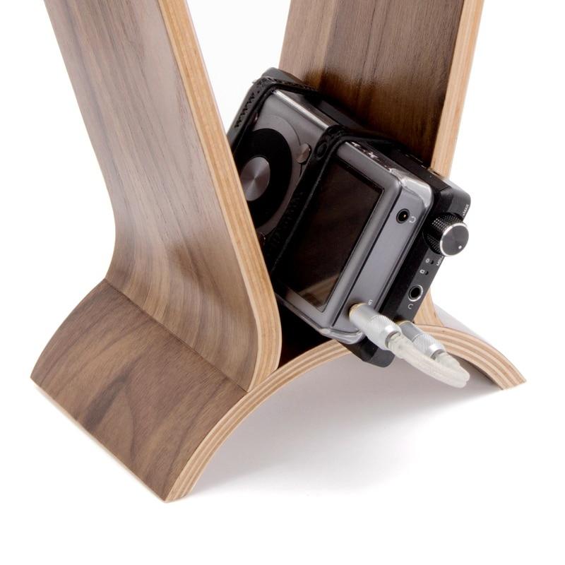 Image 4 - Carbon Wooden Headphone Stand Headset Holder Hanger Universal Earbuds Bracket Display Hanger for All Headphones-in Coat Racks from Furniture