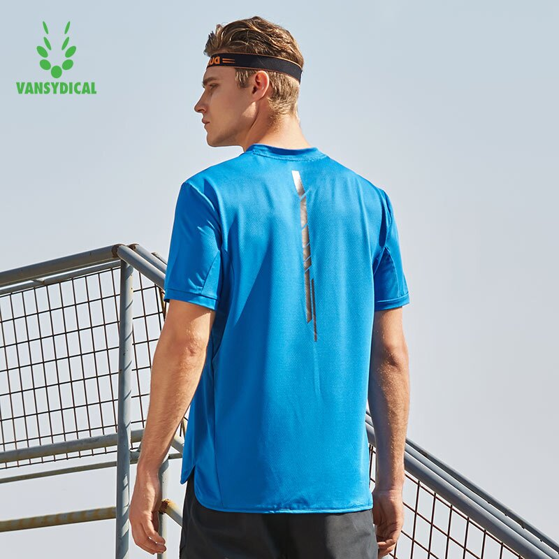 Vansydical 2018 Quick Dry Compression Mens Short Sleeve T-Shirts Running Shirt Fitness Tennis Soccer Jersey Gym Sportswear