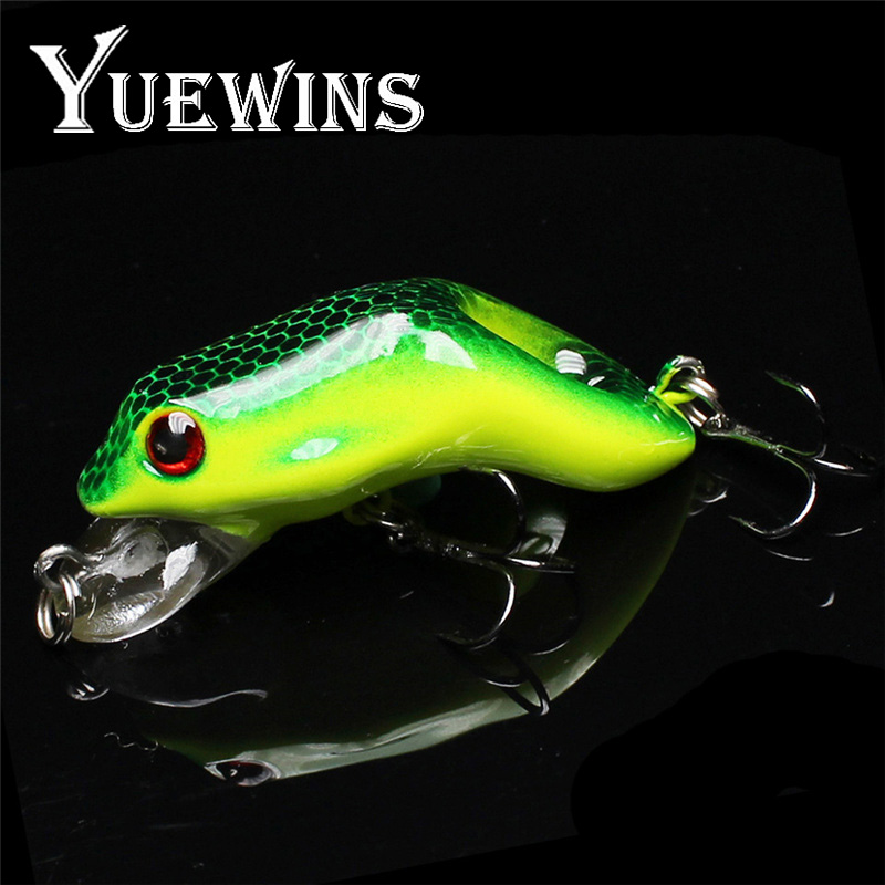 Yuewins 6cm 7.9g Frog Lure Fishing Lures Treble Hooks Topwater Minnow Artificial Hard Bait for bass Swimbait Crankbait QA223 jfsun 5pcs pack frog lure with storage box 13g 6cm soft lures artificial fishing bait topwater fishing lure kit 3 color fu1027