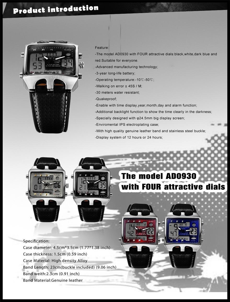 Hot Fashion OHSEN Brand Men Sports Watches Analog Casual Quartz 3ATM Waterproof Sport Military Watch Men Relogio Male Clock Gift (13)