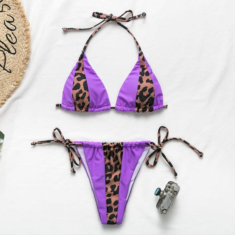Bikinx Leopard bikinis 2019 mujer biquini zebra Neon sexy swimwear women bathing suit String Brazilian swimsuit push up bathers
