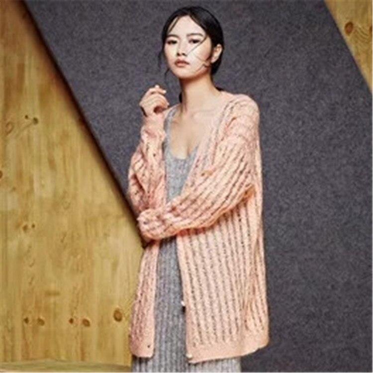 Aush 100Handarbeit Woolen handel Brust Benutzerdefiniert Knit Strickjacke Pullover Gro Frauen Detail hlen Einzigartige Slim Kc53Tl1JFu