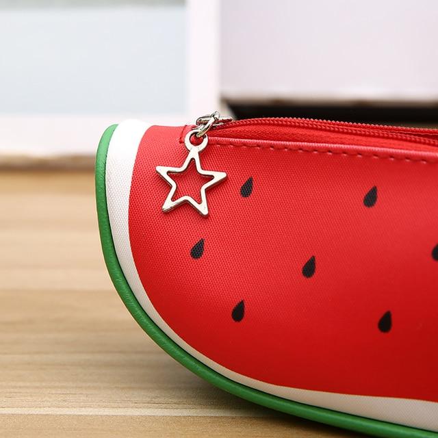 Hot Cute Fruit Kiwi Orange Pencil Case Bag Box Pouch Zipper Holder Kids Stationery Office & School Supplies