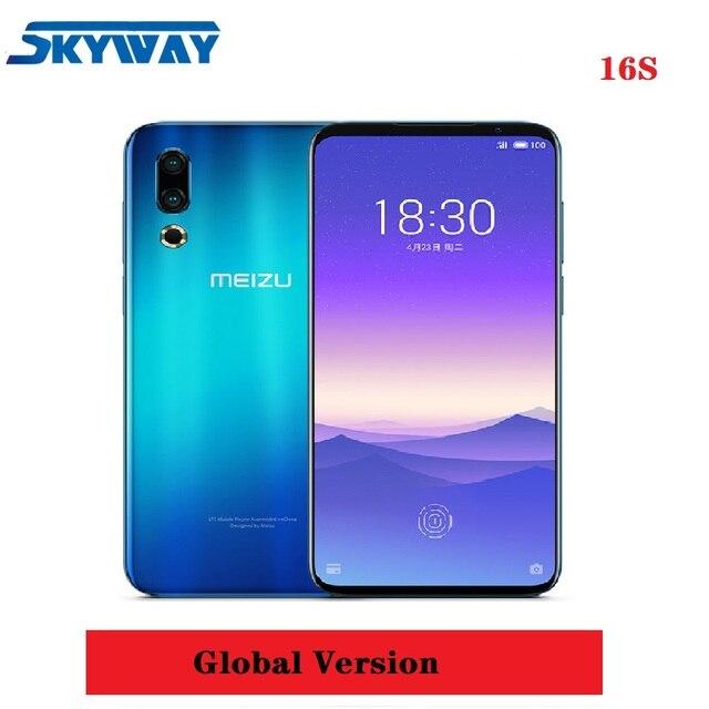 """Оригинальный Глобальный Meizu 16 s 4G LTE 6 GB 128 GB Snapdragon 855 Octa Core 6,2 """"2232x1080 p 48mp 20mp двойная задняя камера быстрое зарядное устройство NFC"""