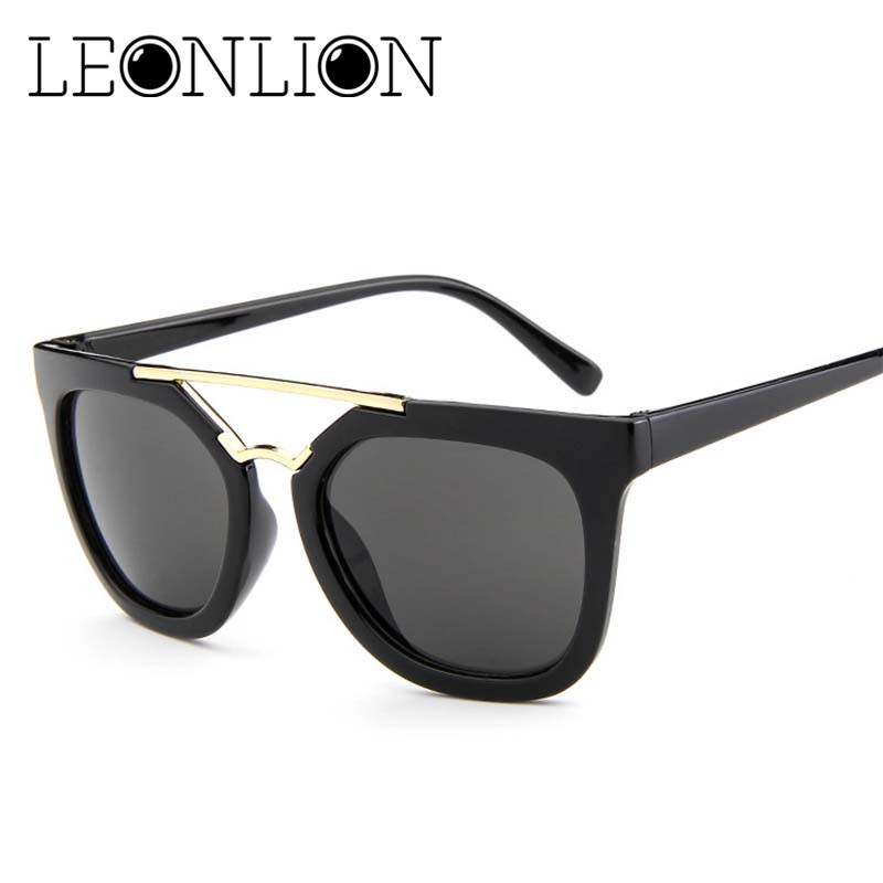 LeonLion 2018 Transparent Frame Sunglasses Women Candies Round ...