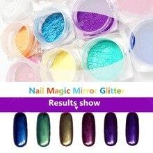 Beauty  Nail Polish Powder Rhinestones Discoloration Silver Glitter Magic Domestic Mirror