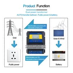 2019 Nieuwe Automatische Dual Power Transfer Switch Solar Laadregelaar Solar Wind Max 11KW Power DC 12V 24V 48V AC 110V 220V ATS