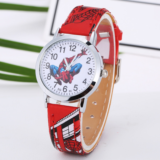 Cartoon Cute Brand Leather Quartz Watch Children Kids Boys Girls Casual Fashion Bracelet Wrist Watch Clock Relogio Garoto