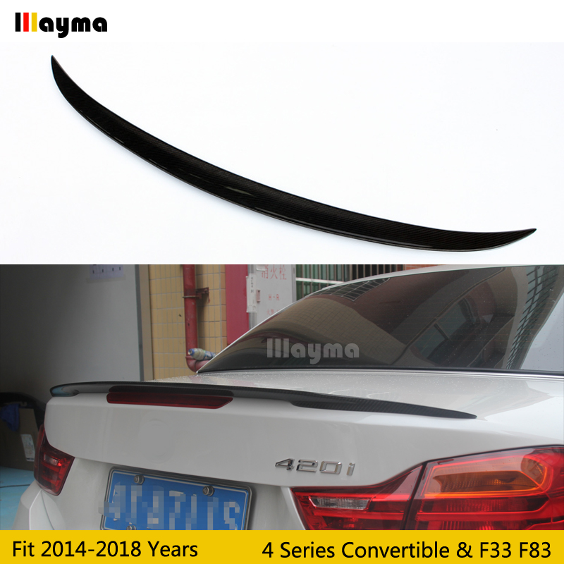 Per style Carbon Fiber rear trunk spoiler For BMW 4 Series Convertible 420i 428i 430i 2014-2018 year F33 F83 Car spoiler WingPer style Carbon Fiber rear trunk spoiler For BMW 4 Series Convertible 420i 428i 430i 2014-2018 year F33 F83 Car spoiler Wing