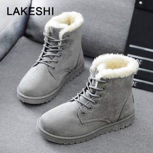 LAKESHI Winter Boots Female Shoes Ankle Boots For Women