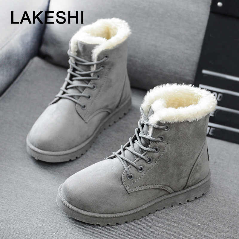 35b2e37b44e Women Boots Warm Winter Boots Female Fashion Women Shoes Faux Suede Ankle  Boots For Women Botas