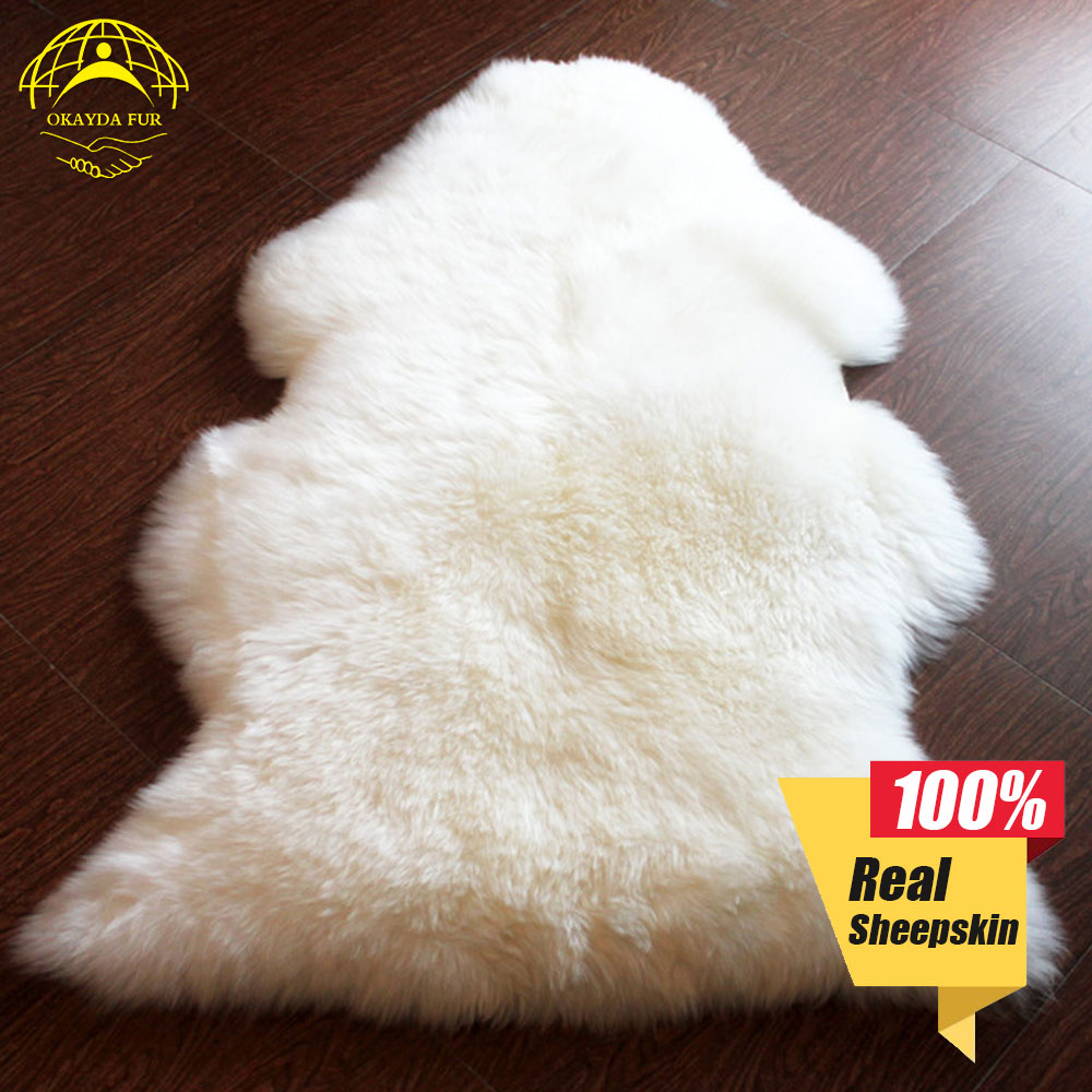 Fur Chair Cover Top 10 Gaming Chairs 2018 Okayda Blanket Cushion Rugs Carpet 100 Sheepskin Real Seat Soft Hairy Plain Skin Fluffy Pelt Long Wool Bedroom In Automobiles Covers