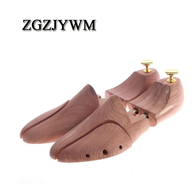 ZGZJYWM Twin Tube Red Cedar Wood Adjustable Width Shoe Shaper Men's Stretcher Shaper Shoe Tree