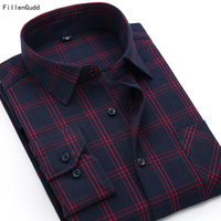 2014 Autumn New British Flannel Sanding Long Sleeve Men Shirts Quality Casual Plaid Men S Shirts