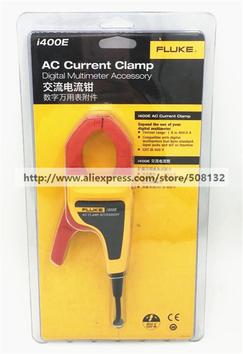 FLUKE I400E 400A AC CURRENT 4mm Banana Plug CLAMP ON PROBE Use for Multimeter 15B 17B