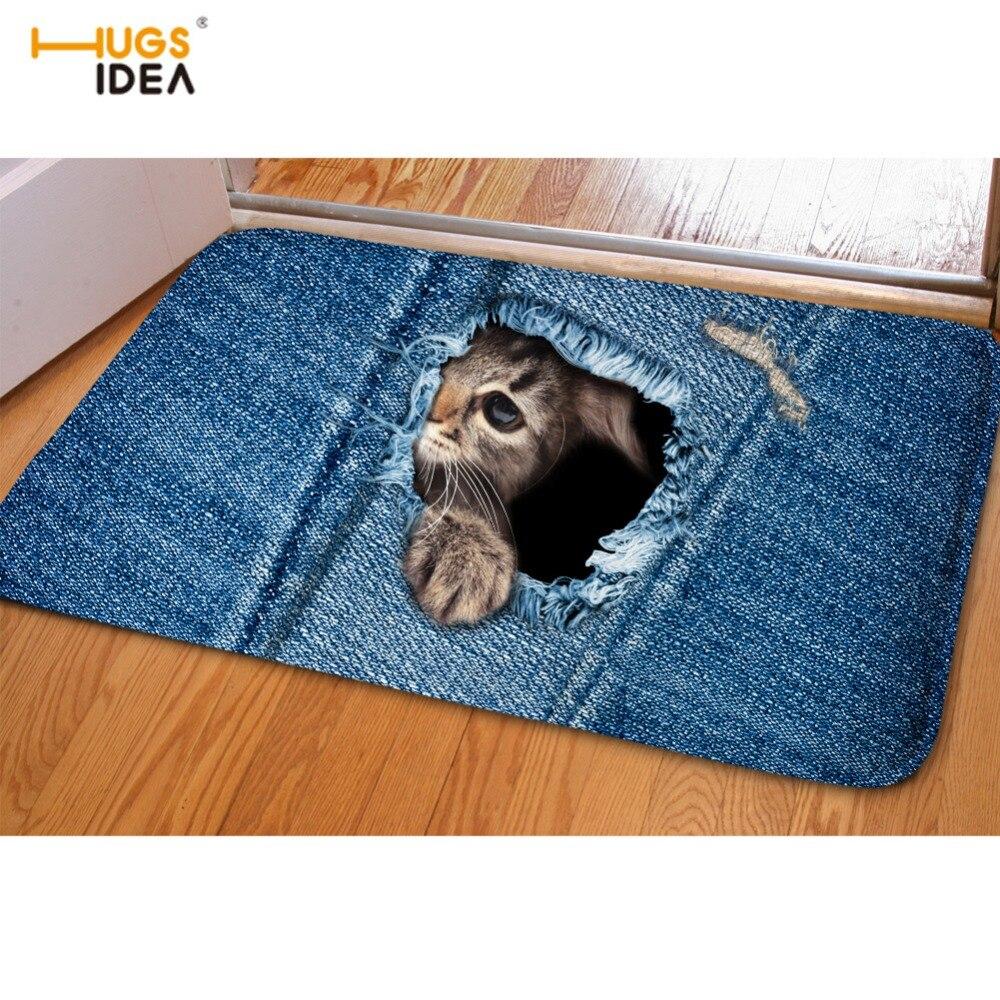 HUGSIDEA Σχεδιασμός τζιν ζεστό σπίτι χαλί - Αρχική υφάσματα - Φωτογραφία 2