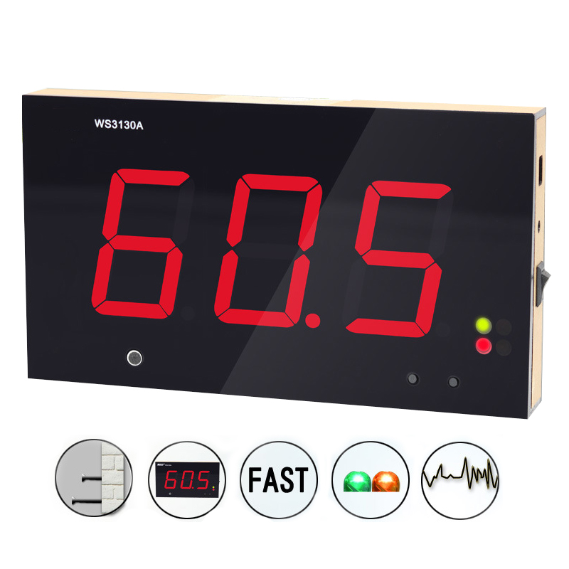 WS3130A Large Screen Wall Hanging Noise Decibel Monitoring Testers Digital Sound level meter 30 130db
