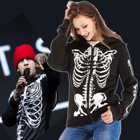 Twenty One Pilots Hoodies Zipper Jackets Cosplay Tyler Joseph Costume Harajuku Streetwear Skeleton Hooded Sweatshirt Gilrs Women