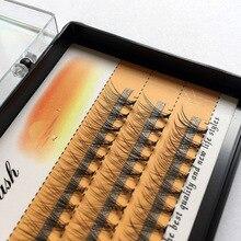 Натуральные длинные отдельные вспышки ресницы кластер накладные ресницы 60 пряди/коробки