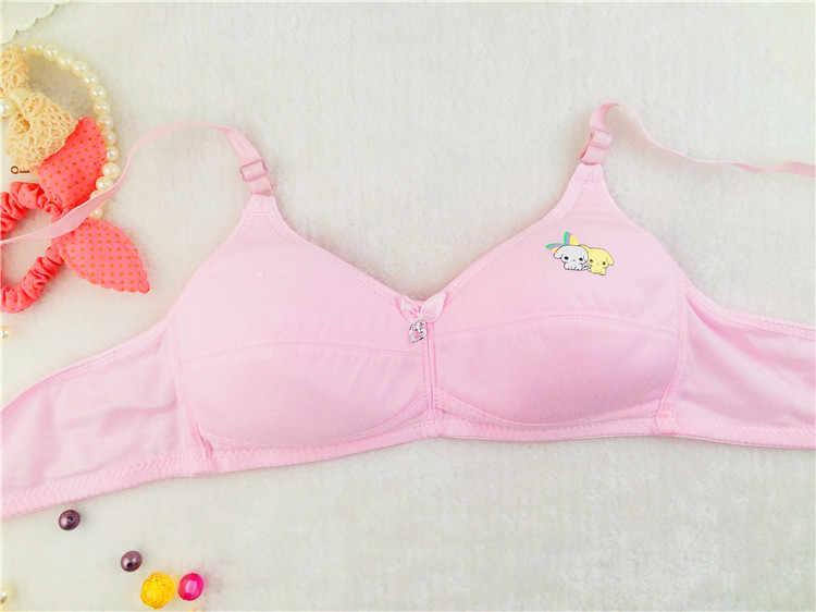 Quality Cotton Teenage Girl Underwear Bow Puberty Students Bra No Steel Bras for Kids Training Bra 32/70 AA,34/75 AA,36/80 AA