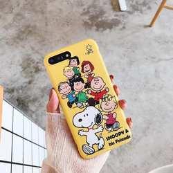 Япония IMD матовая с милой собачкой друзья Телефон Чехол Мягкий ТПУ задняя крышка корпуса для iPhoneX 8 6s 7 плюс узкие основа Защита тела