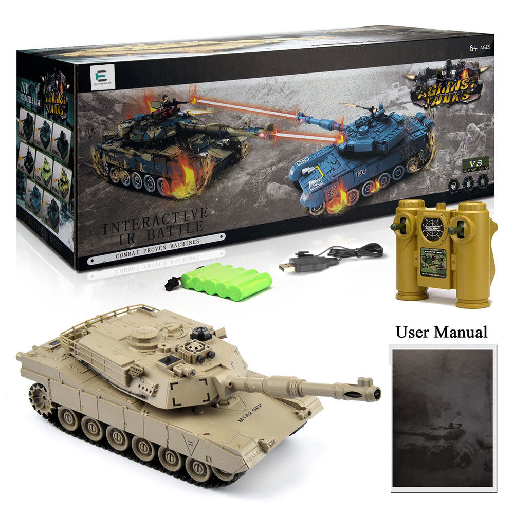 1/28 RC Tank Remote Control Toys Battle RC Tank M1A2 Automatic Presentation Tanks Via Musical scal Toys For Boys Xmas Gifts-in RC Tanks from Toys & Hobbies