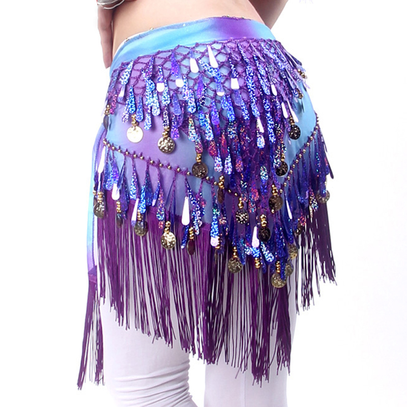 New Arrivals Belly Dance Clothing Accessories Tassel Wrap Stretchy Mesh Base Women Bellydance Belts Fringes Hip Scarf