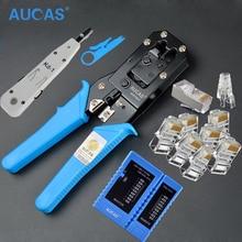 Высокое Качество Cat6 Cat5 RJ45 Кримпер Обжимной инструмент комплект сетевой кабель клещи для опрессовки сети lan тестер Набор Инструментов